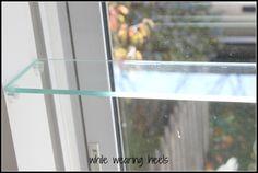 32 Ideas for kitchen window greenhouse diy - Modern Window Shelf For Plants, Kitchen Window Shelves, Kitchen Window Valances, Garden Shelves, Plant Shelves, Kitchen Windows, Wall Shelves, Window Greenhouse, Greenhouse Plans