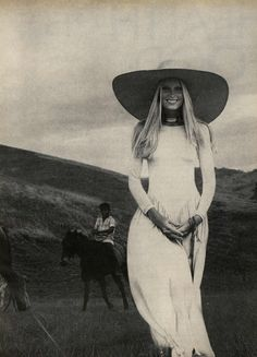 Model Gunilla Lindblad Vogue January 1971
