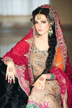 Pakistani model Aisha Linnea Akhtar on her big day :)