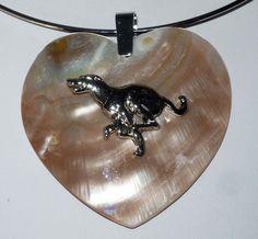 Greyhound Dog Jewelry Heart Shell Pendant Neckring Whippet IG
