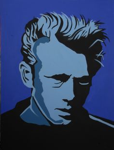 Painting of James Dean by Tanya Garland