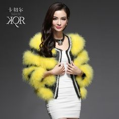 Katchele Haining fur short coat female new 2013 special turkey feather grass ostrich fur coat diamond in taobao agent Agreetao http://www.agreetao.com