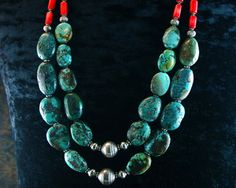 Turquoise Strand Necklace  Multistrand por ByDivineCollectibles