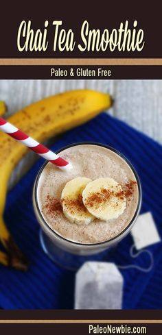 A slightly sweet and definitely spicy smoothie made with brewed chai tea, ripe banana and coconut milk. Light and refreshing!