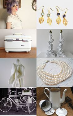 Ooak White Vintage And More... by Elinor Levin on Etsy--Pinned with TreasuryPin.com