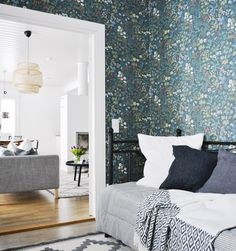 Our Home - Our lifestyle. Not too modern, Not too romantic, not too rustic - But Simple, warm and cozy. Morris Wallpapers, Living Spaces, Living Room, Girl Bedroom Designs, Room Colors, Interior Inspiration, Home Furniture, Sweet Home, Scandinavian Interior