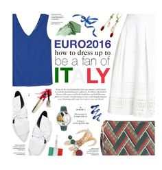 """Dress up for Italy"" by federica-m ❤ liked on Polyvore featuring MANGO, Superdry, Gucci, Eshvi, Urban Decay, Whimsical Watches, Italy and euro2016"
