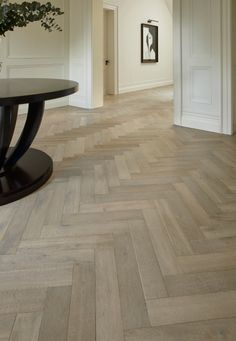 Lauzes Herringbone - Aged Wood Flooring- Woodworks By Ted Todd Minimalist Kitchen Design, Flooring, Wood Floor Design, Hall Flooring, House Flooring, Wooden Floor Tiles, Herringbone Wood Floor, Herringbone Wood, Herringbone Tile Floors