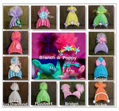 Troll Headbands Trolls Inspired Costume by AngelinaRoseInspired