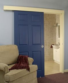 Space saving door instead of a pocket door going into the wall love this alternative to traditional or pocket doors maybe this would work for my master planetlyrics Image collections