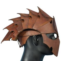 Assassins Quality Leather Helmet. Perfect For Stage Costume & LARP. In 2 Colours
