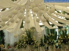 how+to+make+a+fake+ceiling+for+a+wedding | Wedding Ceiling Draping At Affordable Rates! - Offered Philippines ...