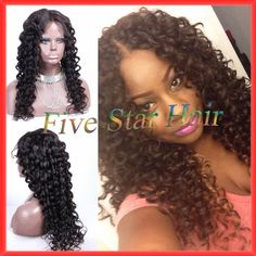 Find More Wigs Information about 100% unprocessed human hair lace front wigs for black women & full lace deep curly virgin peruvian human hair wigs glueless,High Quality wig extension,China hair mohawk Suppliers, Cheap wig black hair from Five star human hair products store  on Aliexpress.com