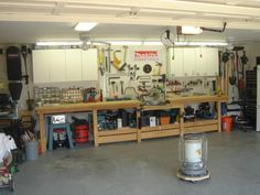 well organized work shop