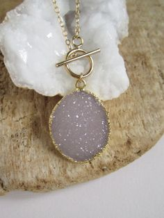 Gorgeous, gorgeous necklace. I love druzies! Druzy Necklace Drusy Quartz 14K Gold Fill