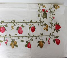 Vintage Tablecloth Luther Travis Signed 54x60 by ThirdHandShoppe