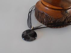 Unique Black Art Glass Necklace by Australian Artist Travis Collins by CarawayKeepsakes on Etsy