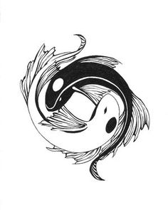 Ying yang tattoo from koi. Like this cause it's a good interpretation of a Gemini Koi Tattoo Design, Pisces Tattoo Designs, Tattoos For Pisces, Yin Yang Tattoos, Tatuajes Yin Yang, Bild Tattoos, Cute Tattoos, Tattoos For Guys, Body Art Tattoos