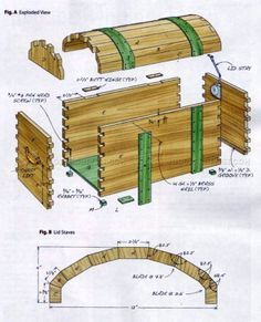 #423 Keepsake Trunk Plans - Other Woodworking Plans and Projects More