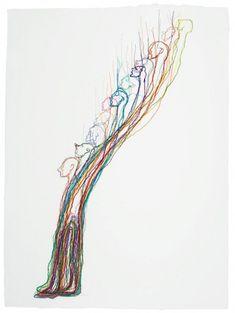 Thread drawings by Do Ho Suh Myselves Paratrooper Going Home Do Ho Suh, Frieze Art Fair, Fluxus, Textiles, Korean Artist, Going Home, Installation Art, New Art, Paper Art