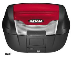 """Shad SH-40 motorcycle top case in garnet. Designed to attach to most flat luggage racks. Its dimensions are: 16.7"""" L x 19.3"""" W x 11.6"""" H and has a 40 liter capacity. Your price is $188.95. With Free Shipping."""