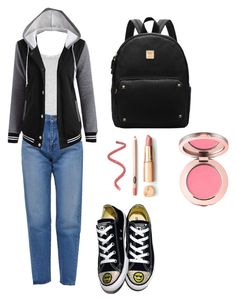 """""""Casual Schoolwear"""" by fluffyflavi on Polyvore featuring Vince, Yves Saint Laurent and Converse"""