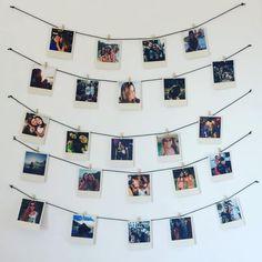 Bedroom Decorating Tips, Diy Wall Decor For Bedroom, Home Design Decor, Wall Design, Polaroid Pictures, Polaroid Ideas, Polaroid Wall, Diy Home Decor Easy, Happy Birthday Gifts