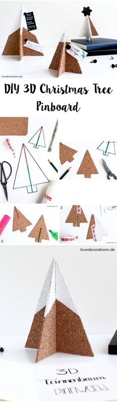 Lila-Lotta /DIY - Inspiration / 3D Christmas Tree Pinboard made of Cork
