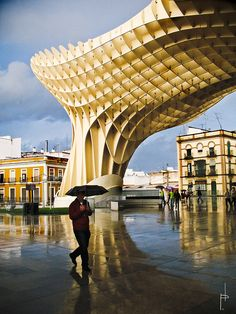 Metropol Parasol is a wooden building placed in La Encarnación square, in the old quarter of Seville, Spain.