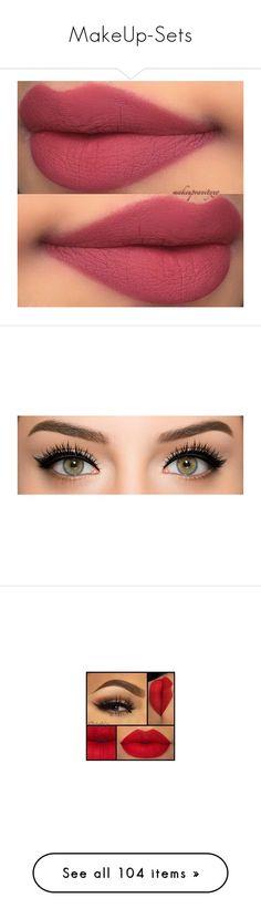 """MakeUp-Sets"" by zafia-13 ❤ liked on Polyvore featuring beauty products, makeup, lip makeup, lipstick, lips, beauty, eye makeup, eyes, tarte cosmetics and tarte"