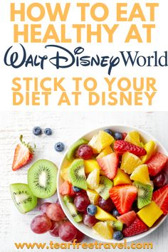 Tt has never been easier to stick to a diet at Disney World, thanks in part to all the planning required. Since many Disney vacationers plan their meals and stops in advance, it's easy to pick and choose restaurants with healthy options before your trip has even started. These dining tips will help you stay the course and avoid temptation as you navigate Disney on a diet. #disney #disneyfood #disneytrip #disneydiet #disneyrestaurants
