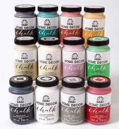 folkart home decor chalk 12 color set