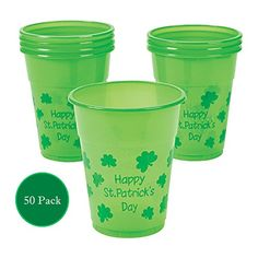 Fun Express 50pc Christmas Holiday Humorous Plastic Drinking Cups 12oz