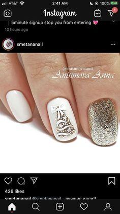 Christmas Nail Art, Christmas Decorations, Pedicures, Nail Ideas, Hair And Nails, Nail Designs, Make Up, Beauty, Finger Nails