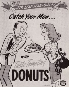 Catch your man with taste tempting donuts. Love the ball and chain...