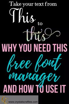 Why you need a free font manager and how to use it. - Fonts - Ideas of Fonts - Why you need this Free Font Manager and how to use it Inkscape Tutorials, Cricut Tutorials, Cricut Ideas, Cricut Air 2, Cricut Vinyl, Cricut Help, Font Manager, Free Fonts For Cricut, Fun Craft