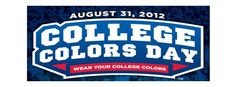 2012 College Colors Day by ESPN - August 31, 2012 - wear your college colors.