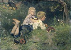 De vlinders, August Alleb�, 1871