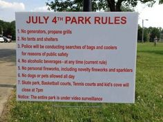 Have a fun 4th of July! (Unless you're at this park in Lakewood, Ohio)