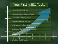 Your First 9 SEO Tasks - Click the image to find our what they are!