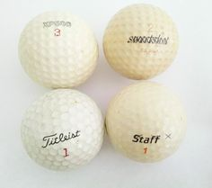 Vintage Golf Ball Set  of 4  Titleist Wilson by TimeEnoughAtLast