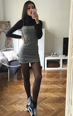150 Fall Outfits to Shop Now Vol. 2 / 012 150 Fall Outfits to Shop Now Vol. Grunge Winter Outfits, Fall Outfits 2018, Winter Fashion Outfits, Club Outfits, Retro Outfits, Girly Outfits, Cute Casual Outfits, Cute Fashion, Casual Dresses
