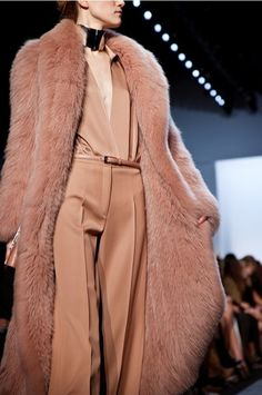 Double sided fur coat