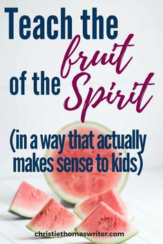 The best, Christ-centered way to explain the fruit of the Spirit for kids - Teaching the fruit of the Spirit to kids sounds easy and fun, but we so often turn it into yet anot - Bible Stories For Kids, Bible Study For Kids, Bible Lessons For Kids, Bible Activities For Kids, Family Activities, Preschool Bible, Preschool Activities, Fruit Of The Spirit, Bible Object Lessons