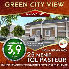 HUNIAN STRATEGIS DAN SEJUK DENGAN VIEW KOTA BANDUNG BOOKING Green City View SEKARANG! Ada Fasilitas Lapangan Futsal!  HANYA 2 UNIT SAJA! Cicilan Mulai 3,9 Juta! (Free Biaya KPR, BPHTB, AJB, SHM)  + Sudah Terhuni 90% + Kesejukan dan kesegaran pegunungan serta view kota Bandung + Bebas Banjir + Strategis bisa di akses dari 2 jalan. Jalan Jatihandap & Cikadut  Info pemesanan hubungi SEGERA 0812 3238 5000 (Telp/WA) Spek dan Pricelist cek di www.ganproperti.com  #jualrumahbandung #rumah