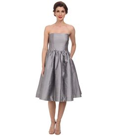 Donna Morgan Georgina Full Skirt Strapless Shantung