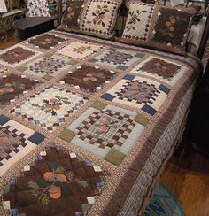 Acorn Quilt-Choice #1 of 3 for our new cabin. Post your choice for our quilt to my FB page.