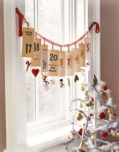 I like the idea of a small advent Christmas tree (my mother in-law has a felt wall hanging of a tree with little felt ornaments for each day)
