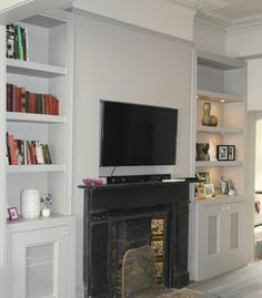 Bookcases & Bespoke furniture made to order from The Wall Panelling Company MDF Units & Book Shelving, Call Today 0800 077 6339 Wood Panel Walls, Wood Wall, Alcove Storage, Painting Bookcase, Home Gadgets, Bespoke Furniture, Colorful Furniture, Furniture Making, Lounge
