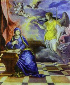 The Annunciation by  El Greco ~ 1570
